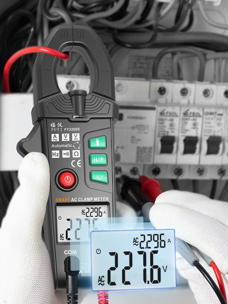 الرقمية Cclamp متر كماشة مقياس التيار الكهربائي متعدد النطاق التلقائي صحيح RMS التيار المتناوب تيار مستمر NCV هرتز فك التيار الكهربائي المتعدد ال...