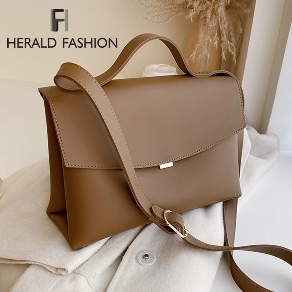 Large Capacity Vintage Messenger Bags Women Pu Leather Elegant Shoulder Bags Office Ladies Handbags Female Fashion Simply Totes