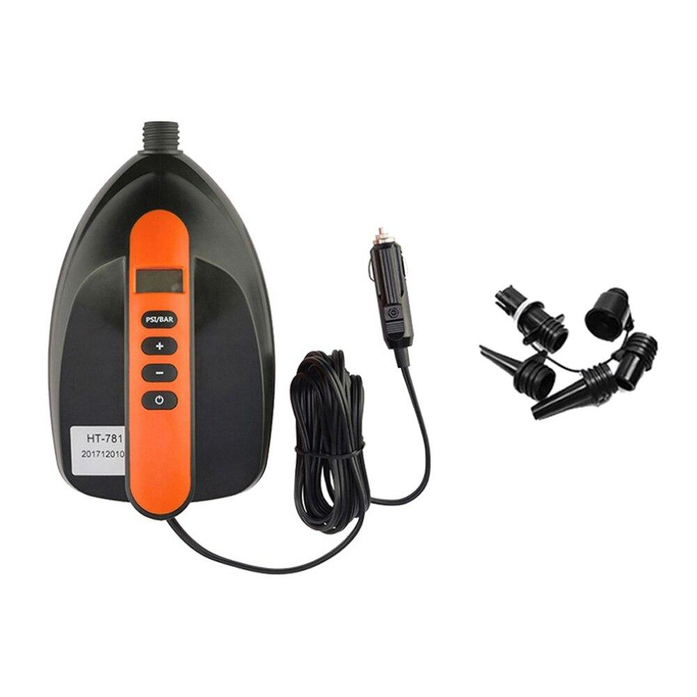 سوب 16 PSI مضخة هواء نفخ مضخة 12 فولت الرقمية الكهربائية شاشة LCD قارب كاياك للنفخ مجداف المجلس والقوارب Airbed والسيارة