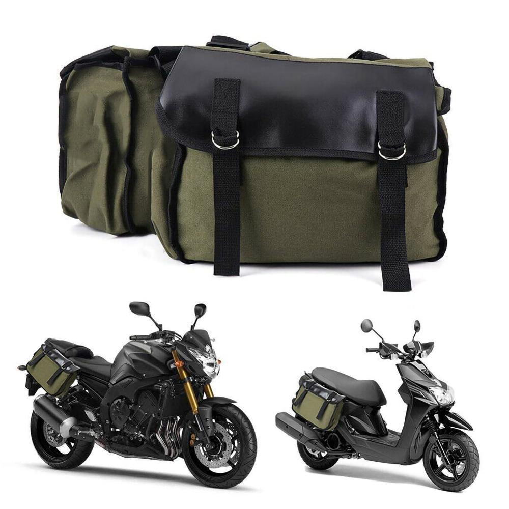 Nova bagagem dupla motocicleta à prova dwaterproof água moto capacete sacos de viagem mala alforjes e capa de chuva rack saco lateral mochila embalagem