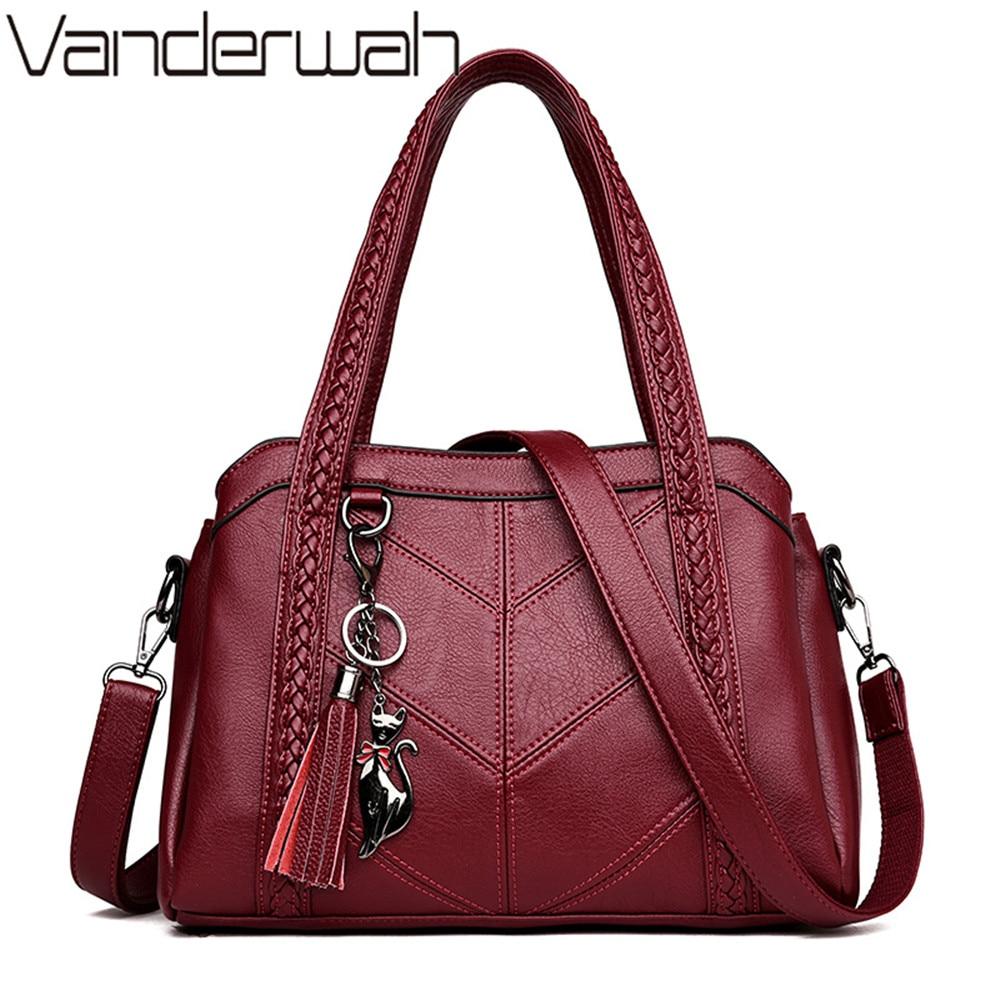 المرأة حقائب جلدية فاخرة أزياء شرابة حمل أكياس مصمم السيدات اليد حقيبة Crossbody حقائب للنساء الكتف حقيبة Sac