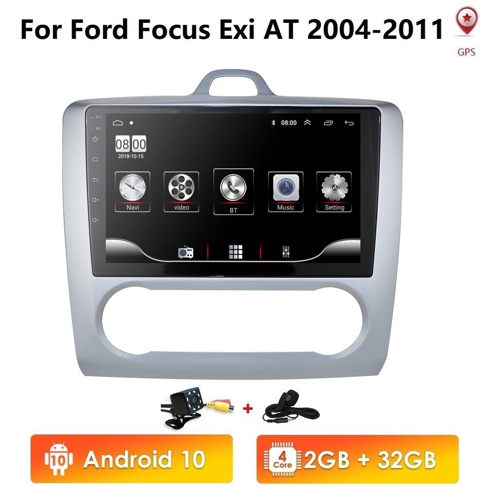 2 DIN Android de 9 pulgadas 10 navegación GPS pantalla táctil Quad-core Radio del coche para enfoque Ford Exi AT2004 2005, 2006, 2007, 2008, 2009-2011