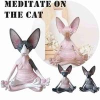 sphinx whimsical buddha cat figurine sphinx meditation cat meditate art sculptures outdoor garden statues figurines %d1%81%d1%82%d0%b0%d1%82%d1%83%d1%8d%d1%82%d0%ba%d0%b8