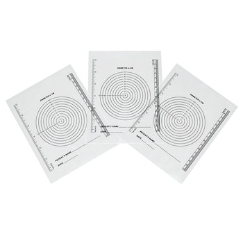 250pcs pack Disposable transparent plastic waterproof medical wound measuring ruler