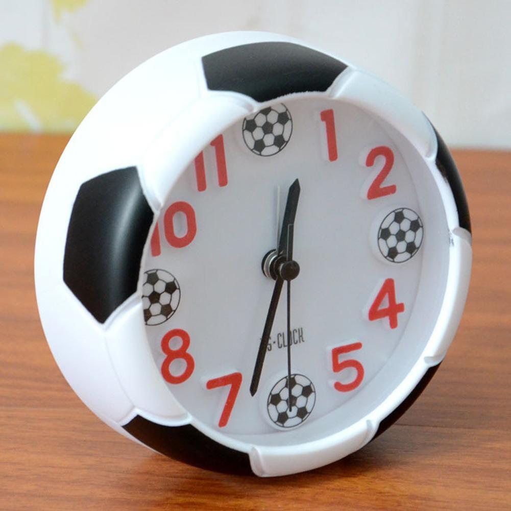 Criativo mini padrão de futebol despertador suporte de mesa relógio para o quarto da criança sala estar cozinha escritório decoração casa