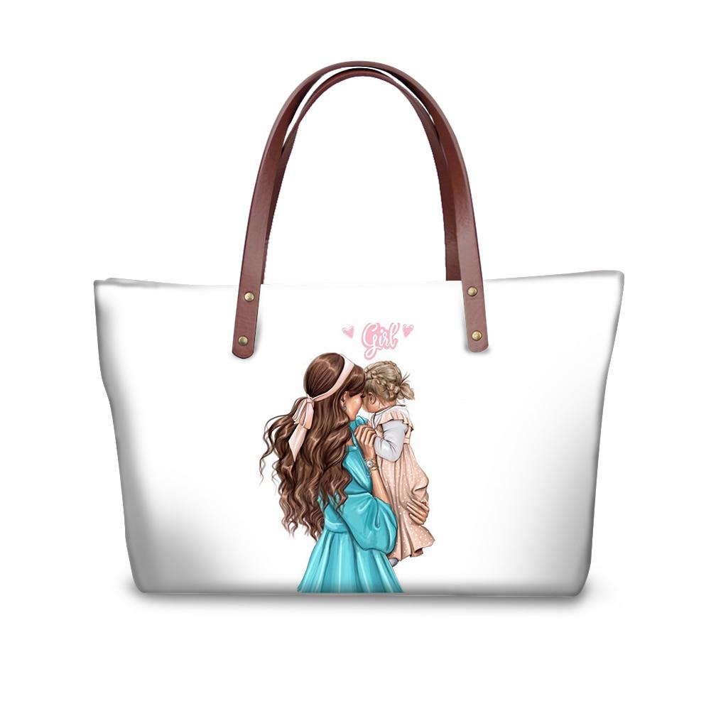 Bolso de mano personalizado con estampado de hija, familia, amor, Super mamá,...