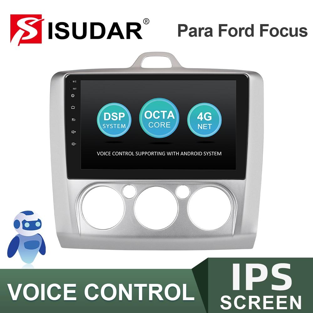 ISUDAR-راديو السيارة متعدد الوسائط مع نظام تحديد المواقع العالمي (GPS) ، راديو مع كاميرا DVR ، 2 جيجابايت رام ، 32 جيجابايت ROM ، لسيارة Ford Focus 2 Mk 2 2004-2008 ...