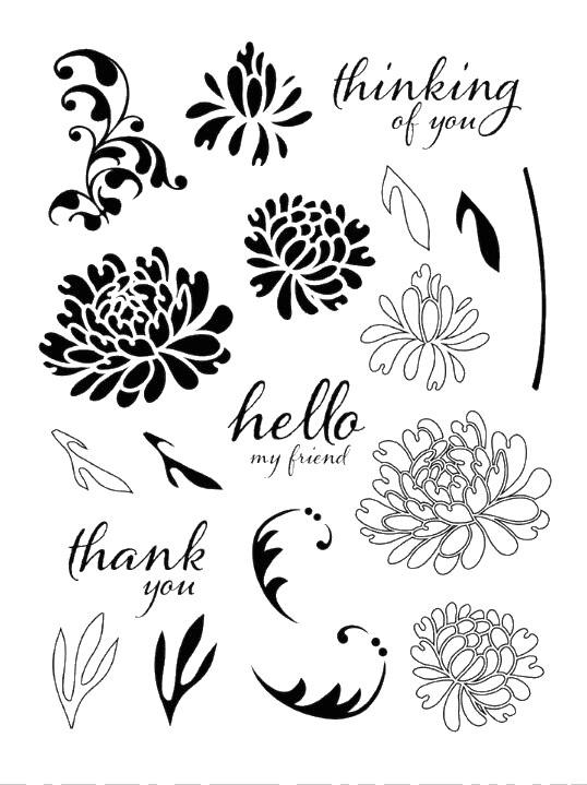flower Clear Stamp Or stamp for DIY Scrapbooking/Card Making/Kids Fun Decoration SuppliesA172