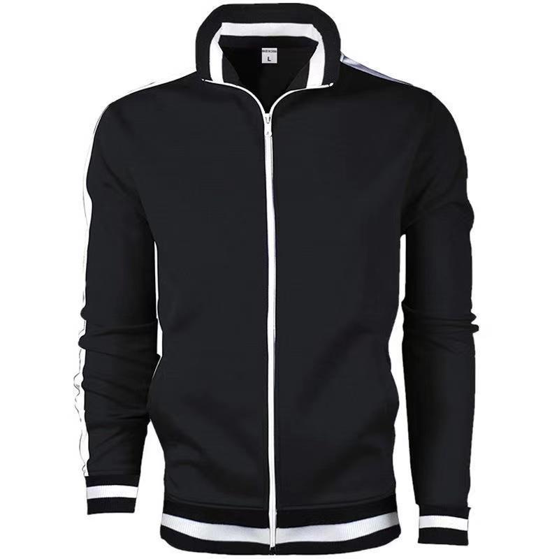 Новейшая модная повседневная мужская куртка на молнии с карманами, спортивная куртка, Мужская брендовая одежда, куртка с длинным рукавом, к...