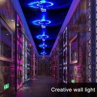 3W spirale lampe a LED concea LED couloir KTV barre partie spirale applique murale RGB mur LED lumiere pour la decoration de la maison de la barre de fete
