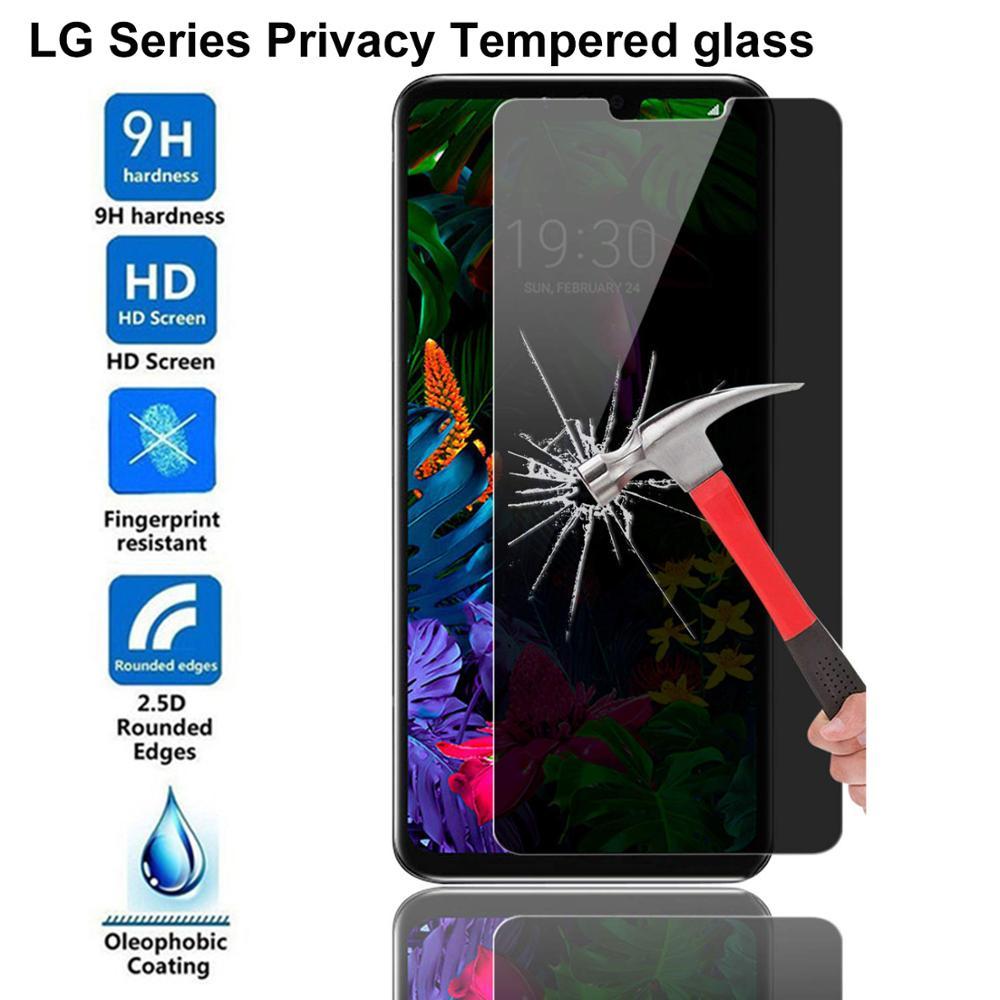 9H Privacy Screen Protector For LG G3 G4 G5 Q7 Q6 G7 G8 Thinq Anti Glare Tempered Glass For LG V10 V20 V40 Anti-Spy Glass