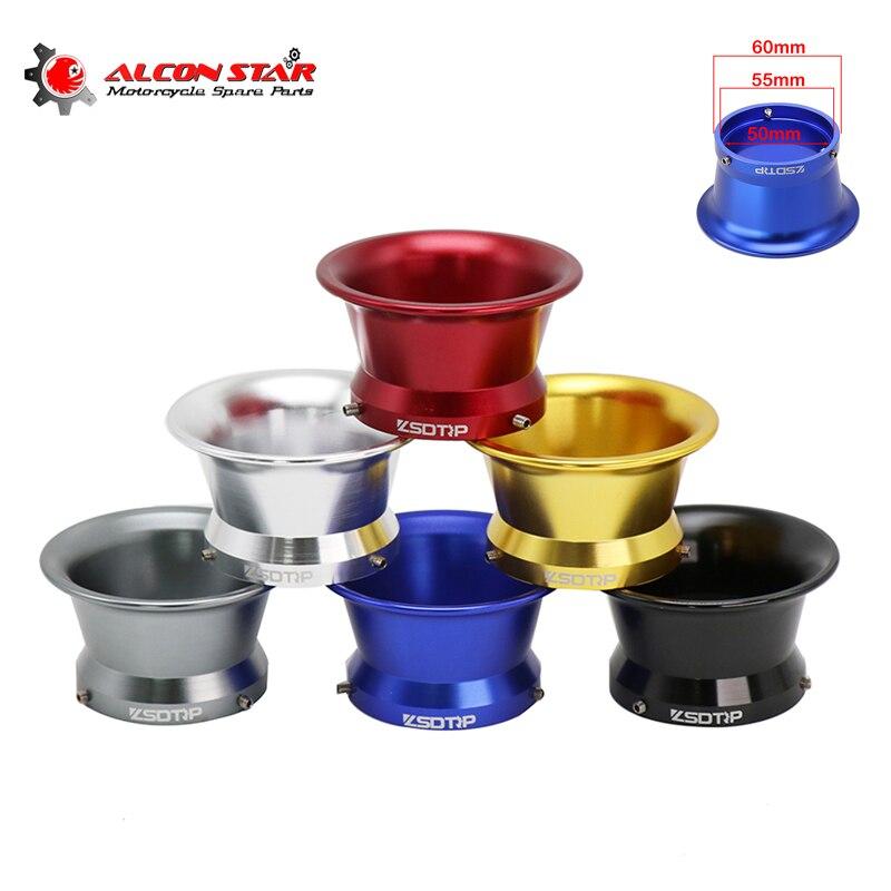 Alconstar- 55mm Aluminium Legierung Moto Vergaser Luftfilter Tasse für Fit Keihin OKO KOSO 32 34mm PWK32 PWK34 Wind Tasse Horn Tasse