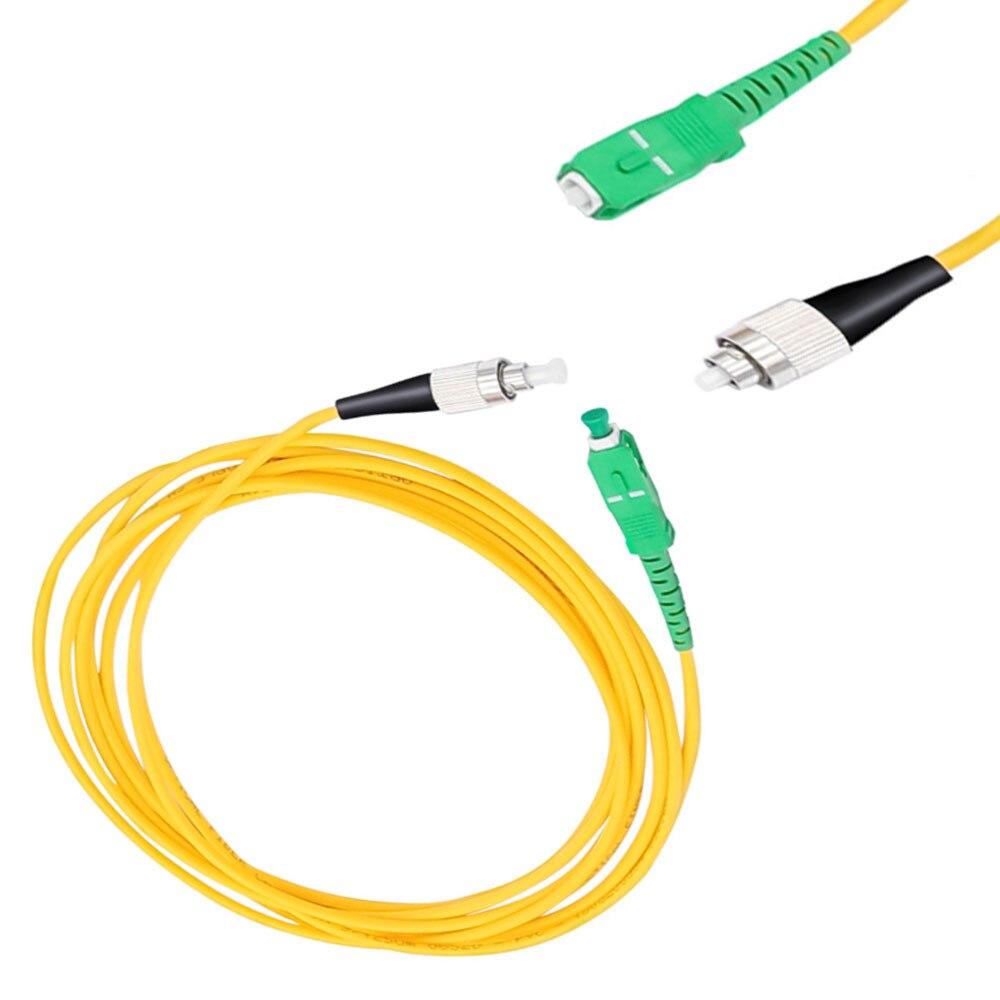 5 unids/bolsa/SC/ APC-FC/ UPC 3mm Cable de fibra óptica de modo único...