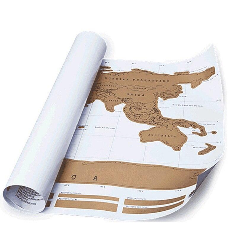 Mapa de rasguños mapa del mundo mapa inglés amarillo mapa raspado Edición Mundial póster rascable