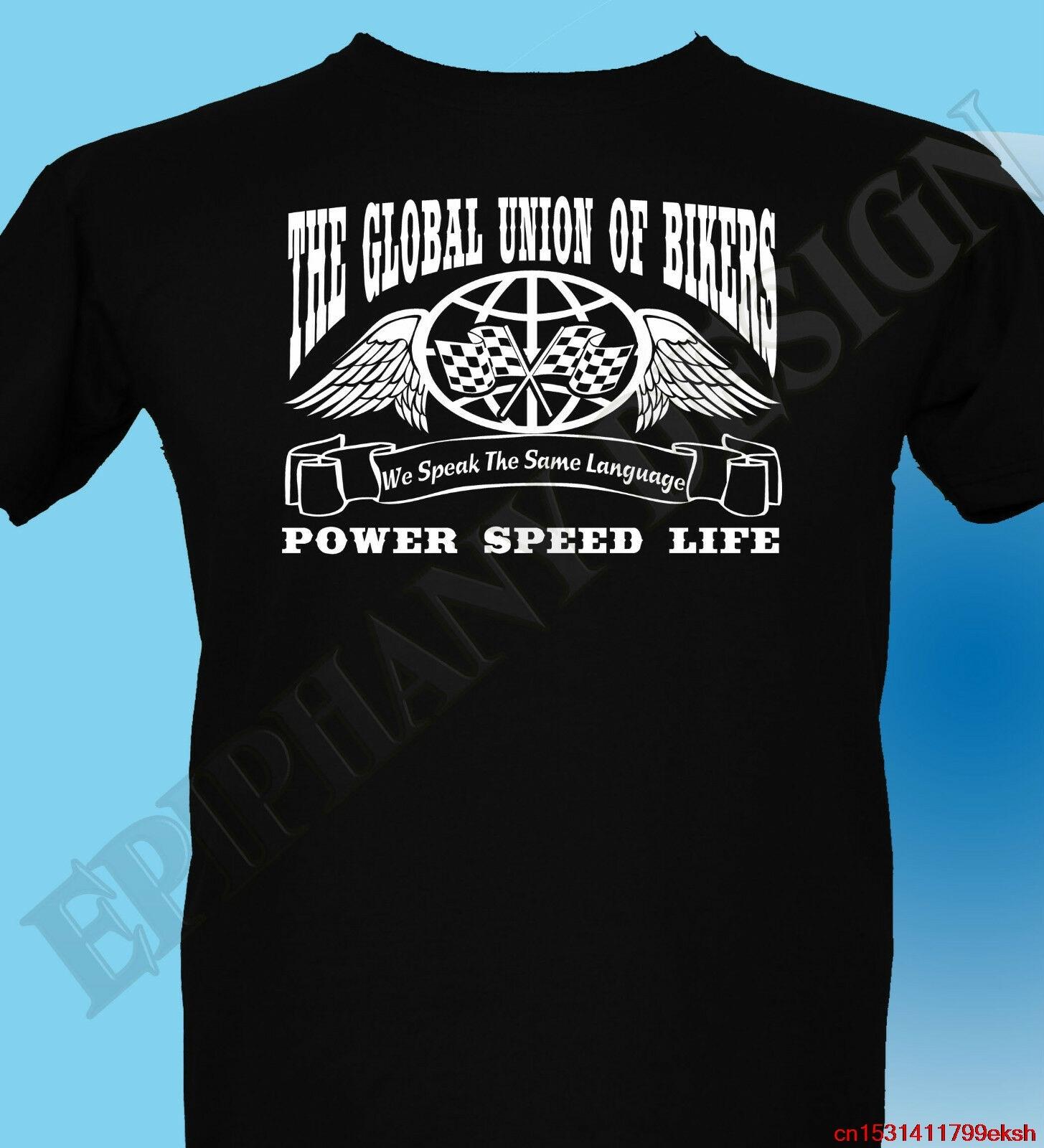 Camiseta de motorista para hombre 3XL 4XL 5XL unión Global de Cafe Racer Ton Up Boys
