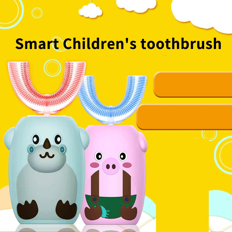 Smart Sonic Electric Toothbrush Rechargeable U Type Silicone UV Sterilization  Kids 360 Degree Teeth Brush children home health