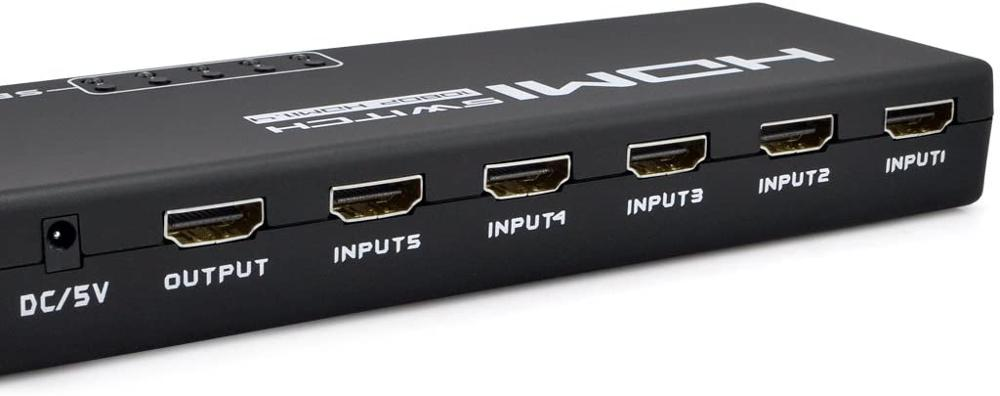 5 Port 1 x 5 HDMI Switch Switcher Selector Splitter Hub 1080P for HDTV PS3 with IR Remote enlarge