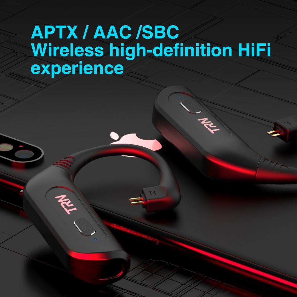 TRN BT20S PRO APTX Wireless Bluetooth 5.0 HIFI Earphone 2PIN/MMCX QDC Connector Replaceable plug Ear Hook For KZ TRN BA8 VX ST1 enlarge
