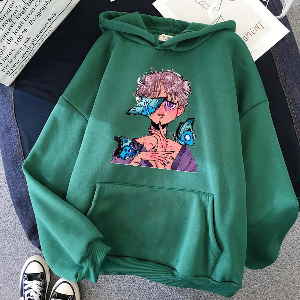 Novo kawaii hoodie feminino harajuku ulzzang tumblr oversized womens casual topos t femme vintage gráfico pulôver swetshirt