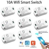10A Wifi Smart Switch Timer connessione intelligente Wireless Smart Home Automation Tuya App telecomando funziona con Alexa Google Home