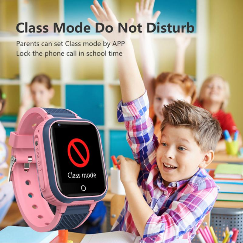 4G Smart Watch Kids Video Call IP67 Waterproof Alarm Clock LCD Color Touch Screen Network Wifi GPS LBS Location SOS Smartwatch