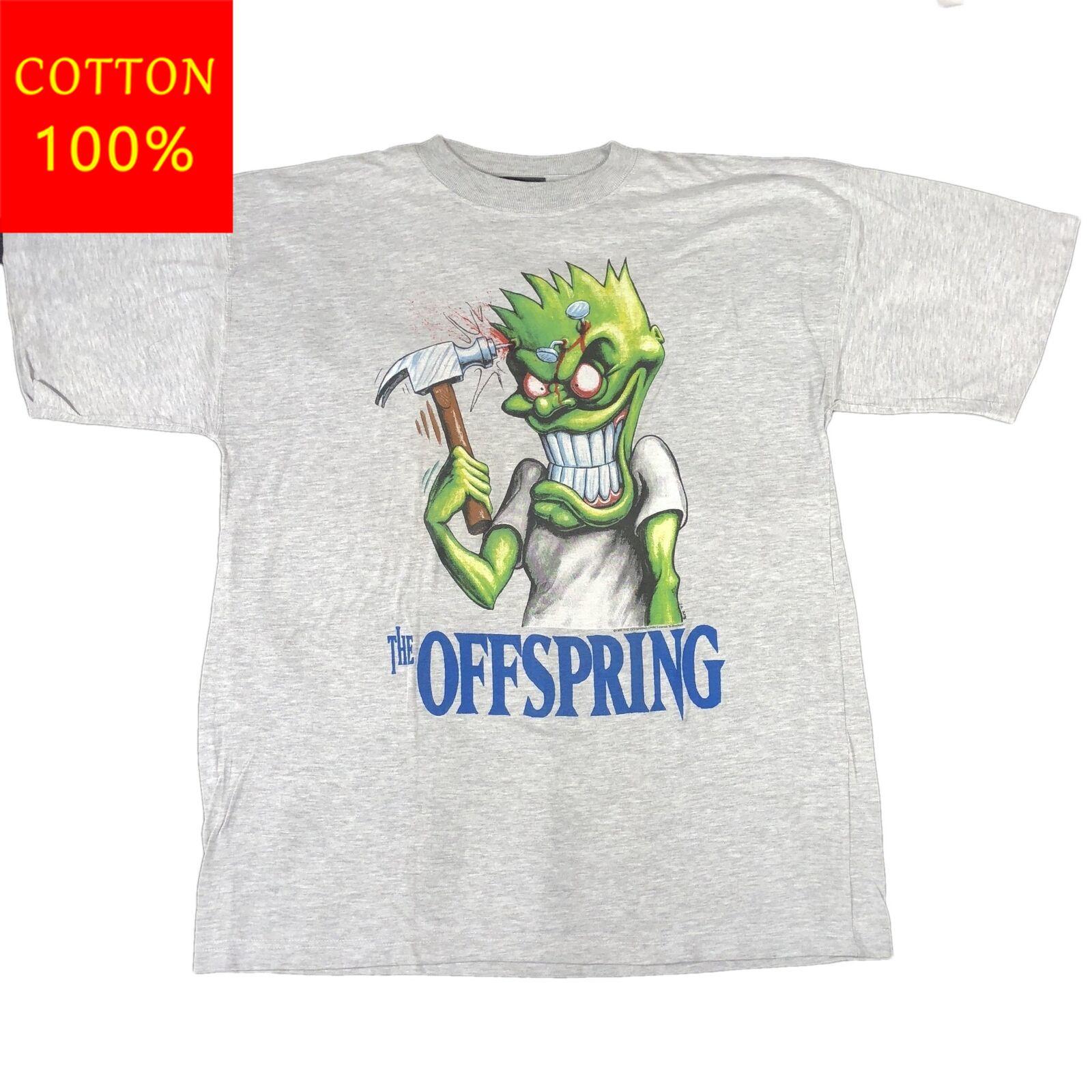 Vintage The Offspring Hammered TShirt Nofx Green Day Pop Punk Print Men T Shirt Summer