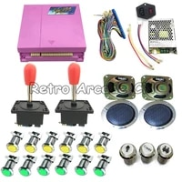 pandora box 4s 815 in 1 diy arcade kit with power supply jamma board harness joystick led button for diy arcade game machine