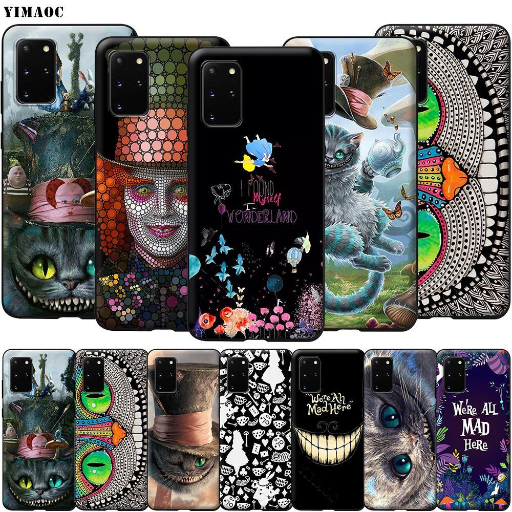 Alice in Wonderland Cat Case for Samsung Galaxy A7 A8 A9 A10 A20 A30 A40 A50 A70 S10 Plus S20 Ultra Note 10 Lite A51 A71 A81 A91