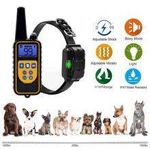 Тренировочный ошейник для собак, беспроводной пульт дистанционного управления, водонепроницаемый, 4 режима, светодиодный, высокая проводим...