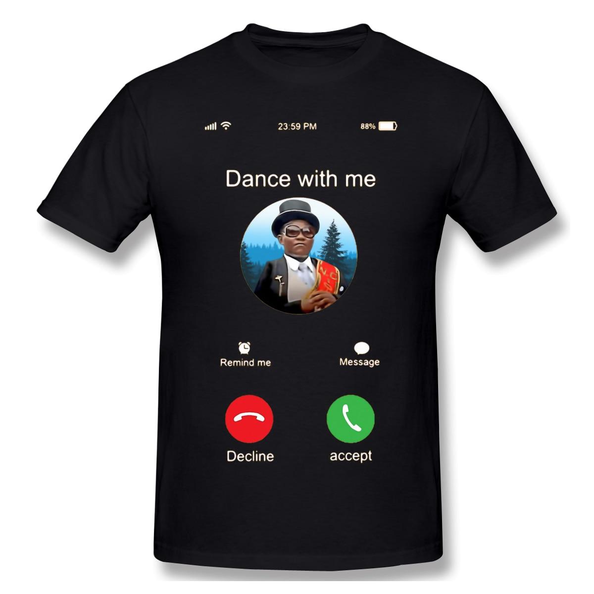 T camisas dos homens engraçado momento camiseta de alta qualidade camiseta pai dia topos 100% algodão roupas caixão dança meme puro algodão t
