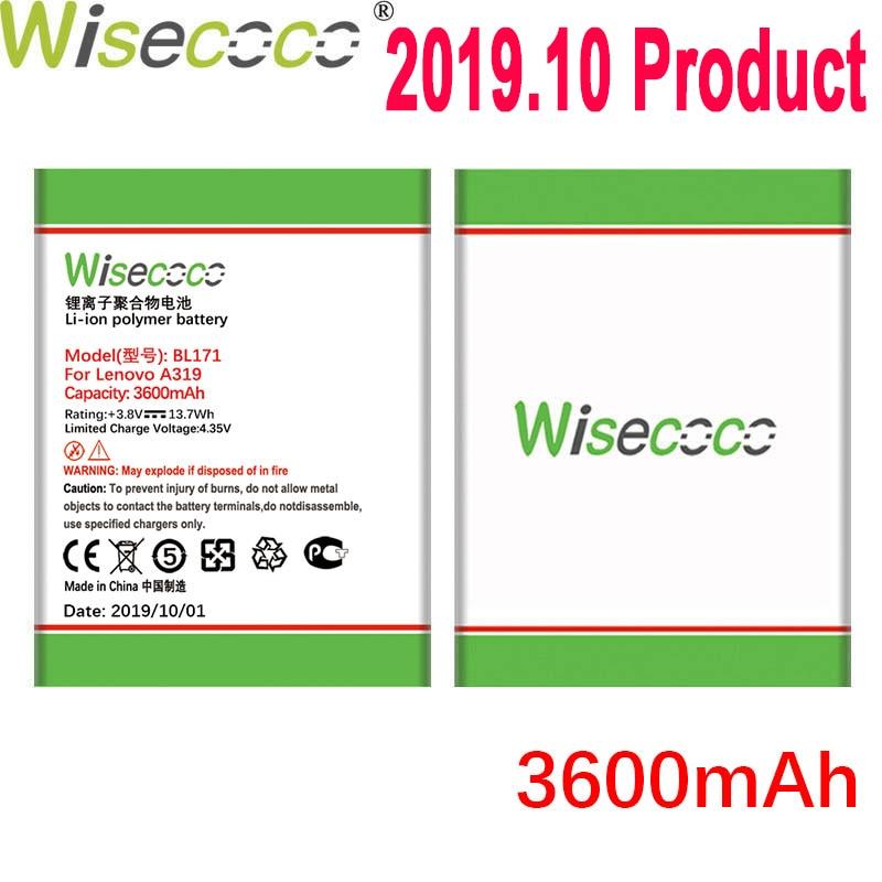 Wisecoco 3600mAh BL171 batería para Lenovo A319 A60 A500 A65 A390 A368 A390T A356 A370E A376 teléfono última producción de la batería