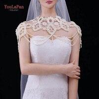 YouLaPan G09 Beading Wedding Bolero Luxury Short Appliques diamond Wedding Wrap Jacket for Evening Prom Wedding Accessories