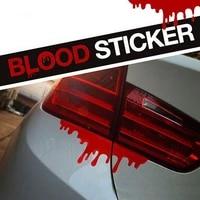 reflective warning car stickers blood bleeding decals car decor accessories 1pcs