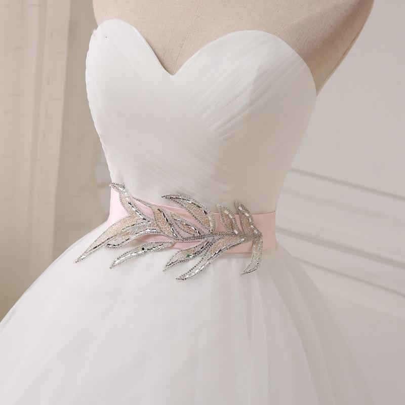 Simple Wedding Dresses Sweetheart Sleeveless Bridal Dresses Ball Gown Organza Backless Appliques Bridal Gowns Vestido De Noiva