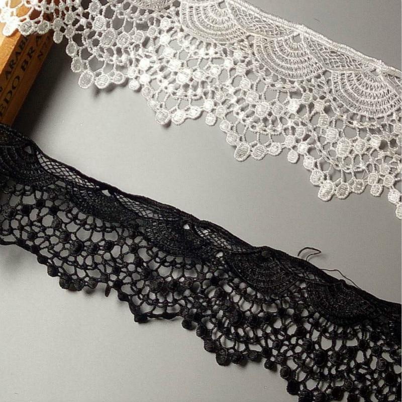 2 yardas 10cm algodón borla de ganchillo ribete de flecos tela cinta borde bordado apliques para coser artesanía vestido de boda