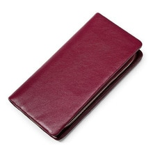 Fashion Genuine Leather Women Wallet Long Cowhide Multiple Cards Holder Clutch Female Purse Standard