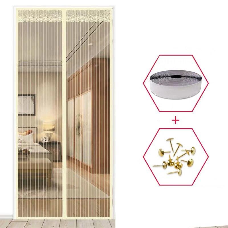Cortina magnética contra insectos/moscas para Puerta Mosquitera, malla de red para Puerta...