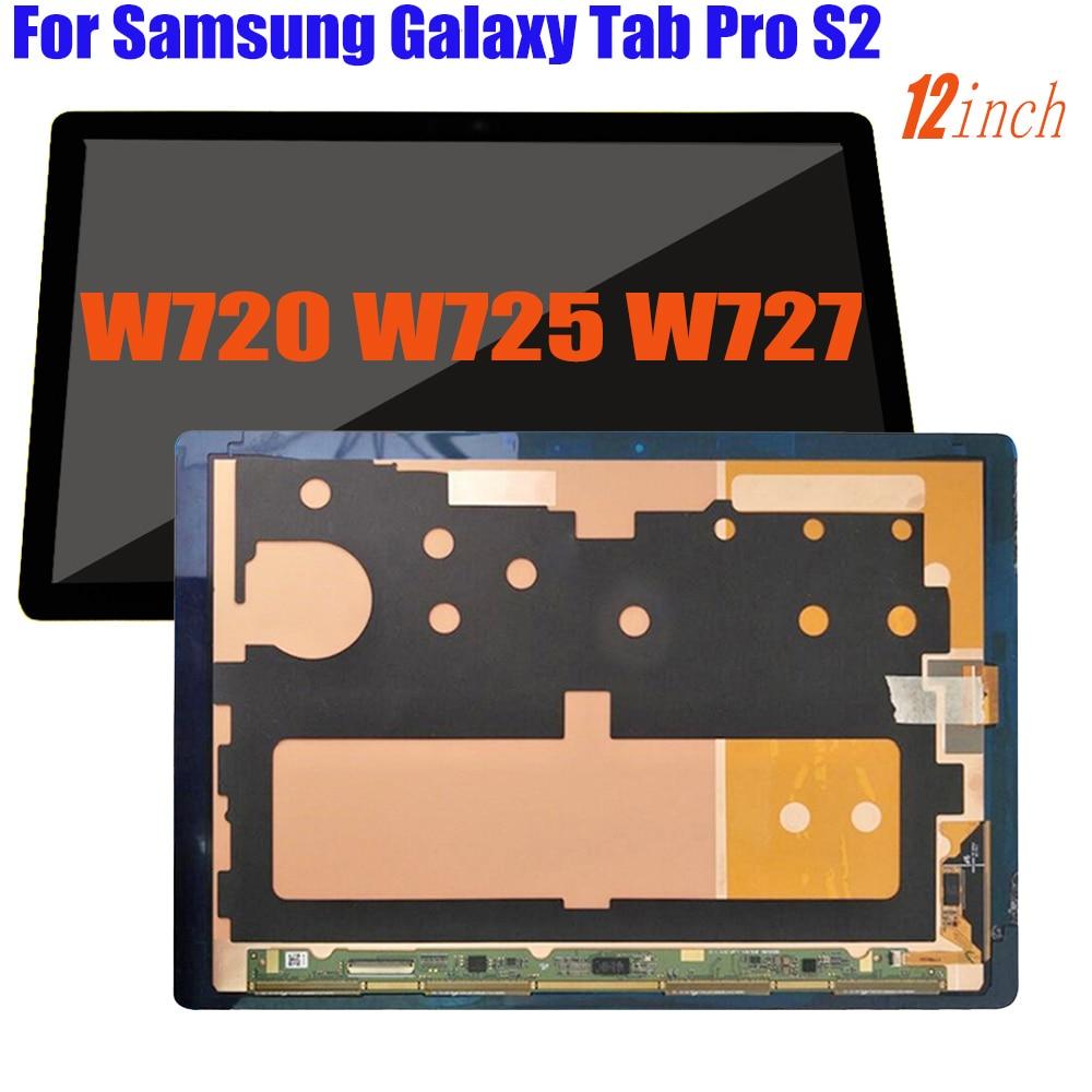 Original 12inch For Samsung Galaxy Tab Pro S2 W720 W725 W727 LCD Display Touch Screen Digitizer Assembly SM-W720 SM-W727 SM-W737