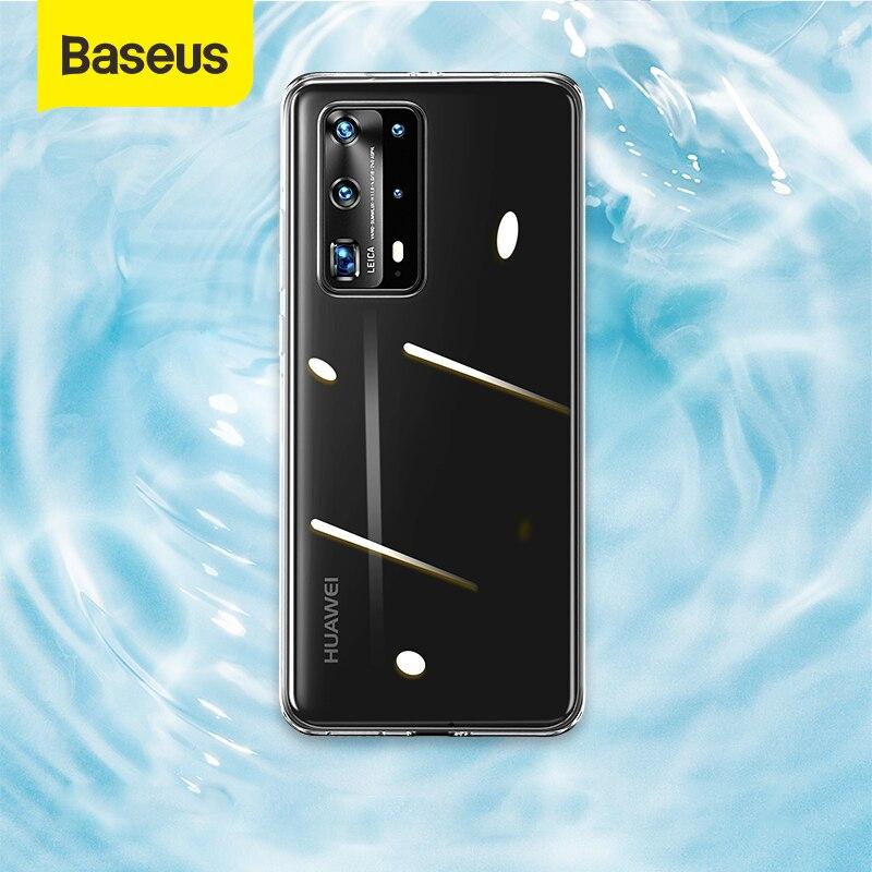 Funda de teléfono superfino Baseus, funda transparente para Huawei P40 P40 Pro, fina funda protectora para teléfono, funda trasera impermeable, Coque