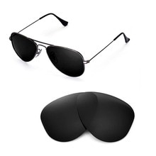 Walleva Polarized Replacement Lenses for Ray-Ban Aviator RB3044 52mm Sunglasses USA shipping