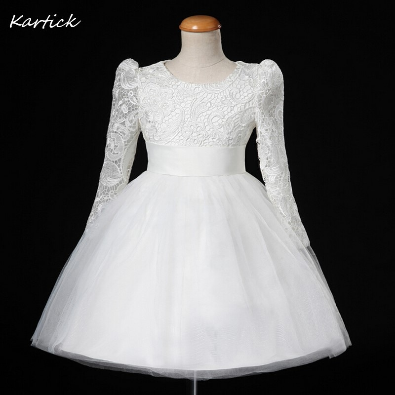 2018 new children s costumes sixty one high end custom flower girl dresses 2 14year gift children s performing princess dress New Flower Girl Dresses with Long Sleeve Communion Ball Party Pageant Dress for Wedding Little Girl Kids/Children Princess Dress