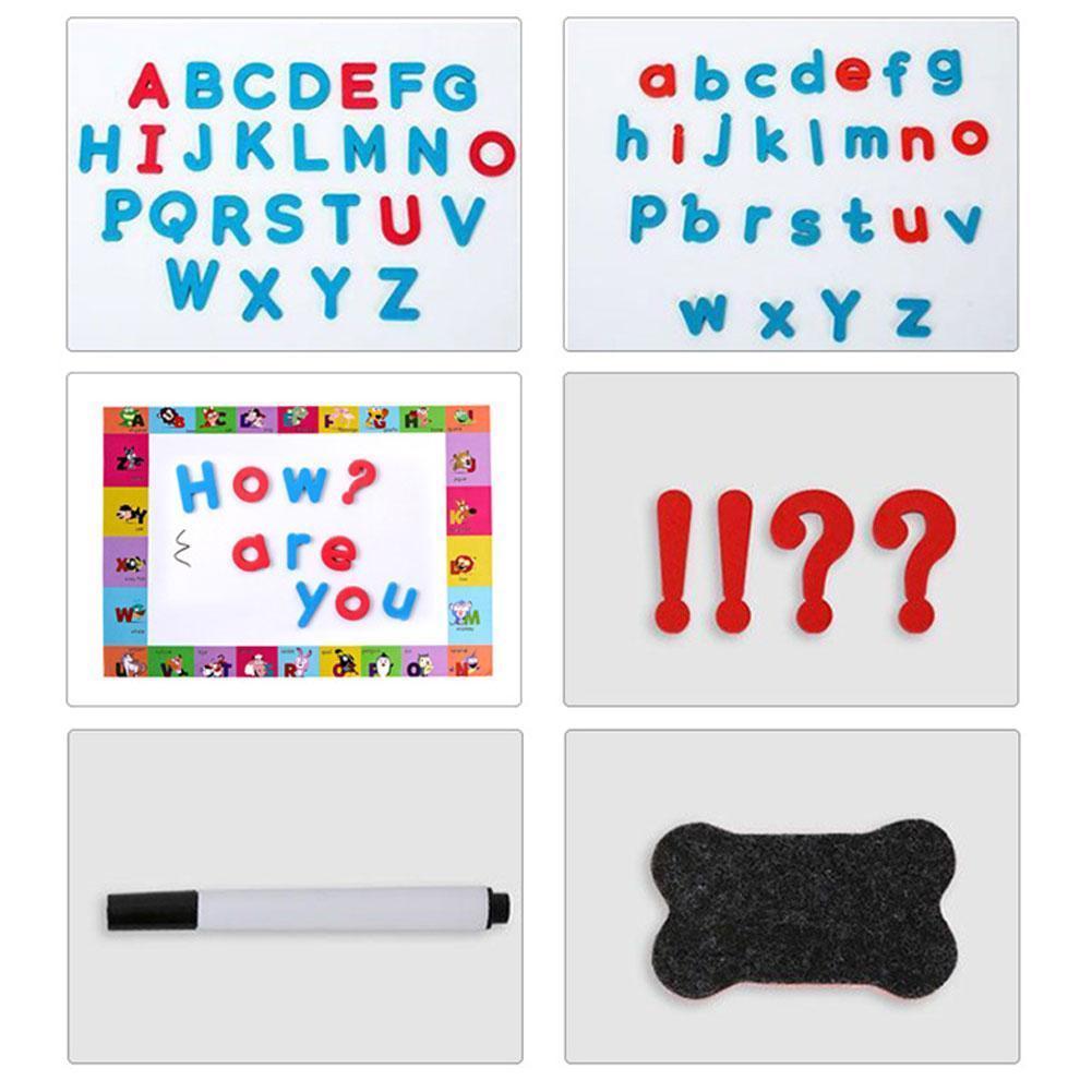 216/238 pçs letras magnéticas uppercase lowercase ímãs de espuma brinquedos alfabeto educacional frigorífico conjunto para geladeira abc m0b4