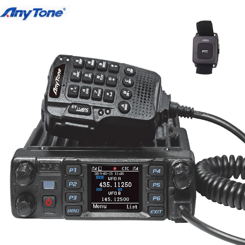 Anytone AT-D578UV برو DMR التناظرية UHF /VHF راديو المزدوج وضع 4000 قنوات مع GPS APRS بلوتوث PTT سيارة Moblie راديو