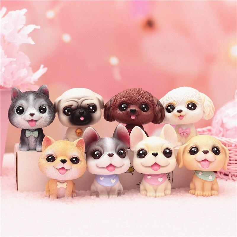 New Shaking Head Toy Kawaii Dogs Car Ornament Car Interior Mini Doll Car Home Decoration Accessories3-5mm