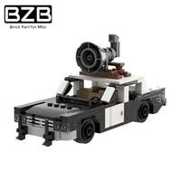 bzb moc car inspection public security vehicle building block model decoration parts bricks kids brain games diy toys best gifts