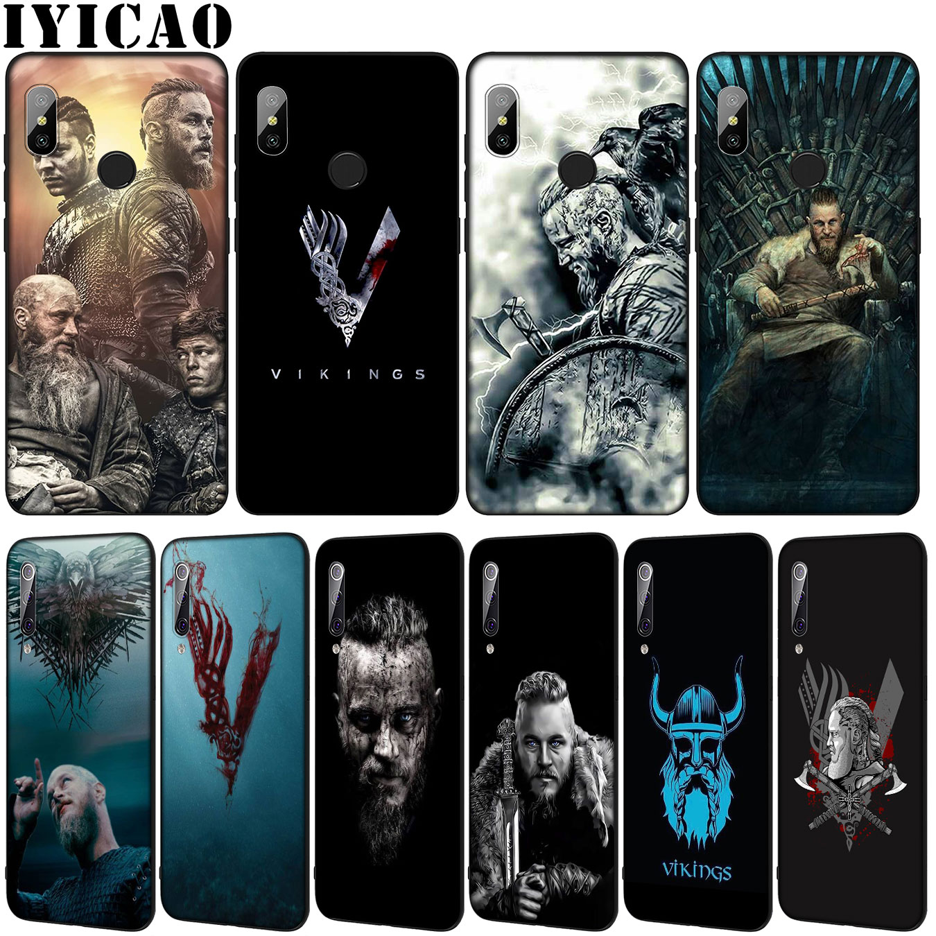 IYICAO vikingos TV muestra de silicona suave funda de teléfono para Xiaomi mi 10 9 9T A3 Pro 8 SE A2 Lite A1 6 CC9 CC9E teléfono móvil f1 mi 10