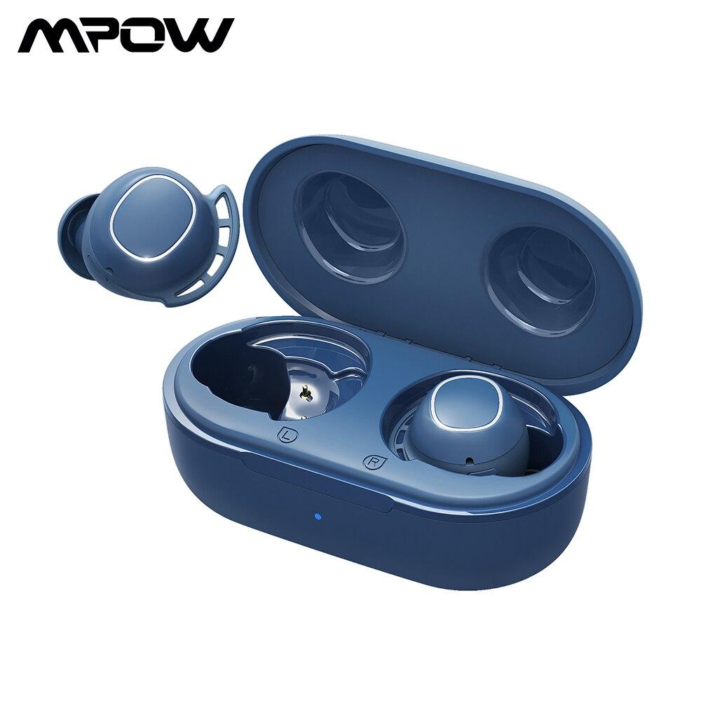 Водонепроницаемые беспроводные наушники Mpow M30, Bluetooth 5,0, IPX8, TWS наушники с мощным басом и зарядным футляром для телефона