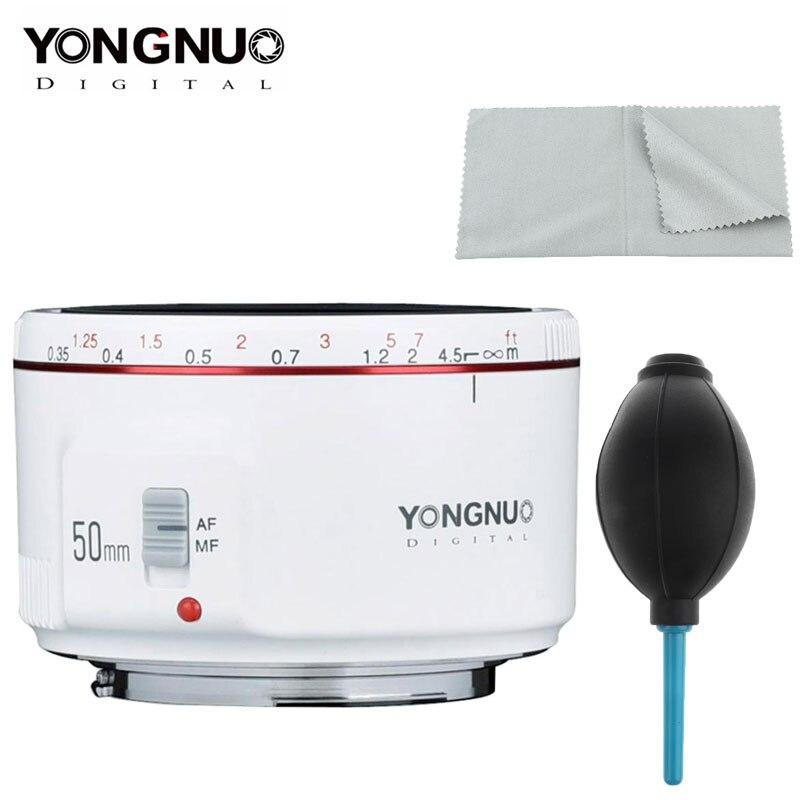 YONGNUO YN50mm F1.8 II lente para Canon EOS 70D 5D2 5D3 600D DSLR lente de enfoque automático de gran apertura para Canon Bokeh efecto Cámara Len