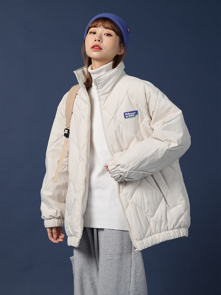 Women's Cotton Padded Jacket 2021 New Thickened Cotton Padded Jacket Off-season Down Jacket Medium a