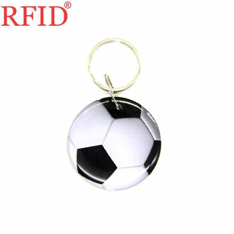 ID 125KHZ EM4305 EM4205 llavero reescribible RFID impermeable de fútbol Token Tag llavero con insignia de Control de acceso 1